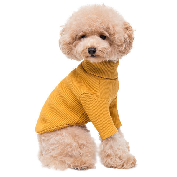 turtleneck - mustard